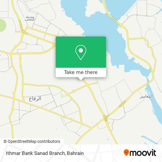 Ithmar Bank Sanad Branch map