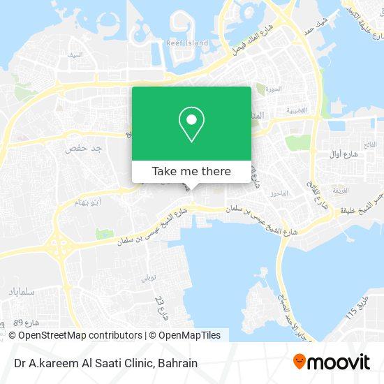 Dr A.kareem Al Saati Clinic map