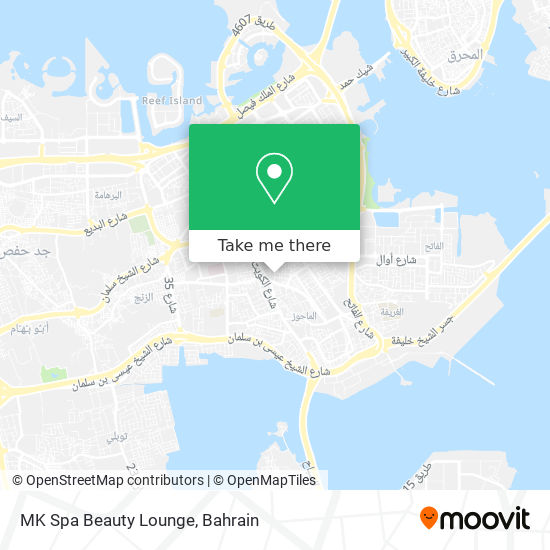 MK Spa Beauty Lounge map