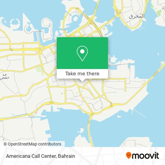 Americana Call Center map