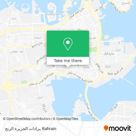 برادات الجزيرة الزنج map