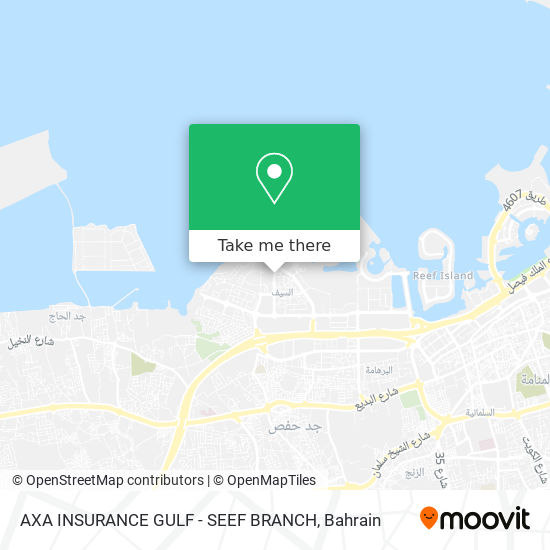 AXA INSURANCE GULF - SEEF BRANCH map