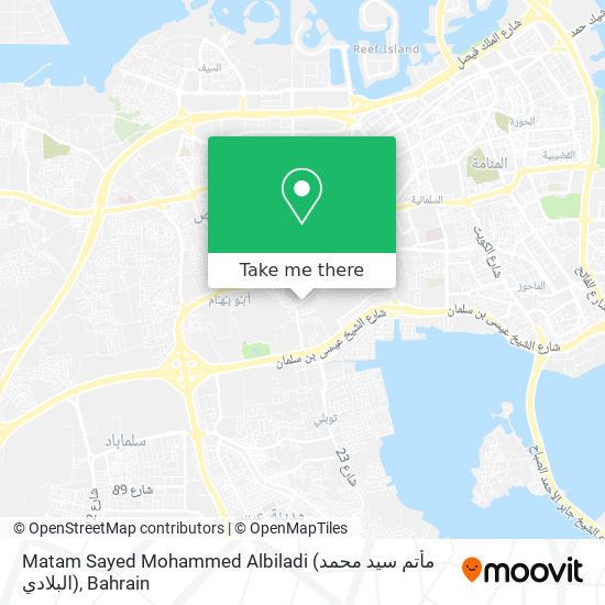 Matam Sayed Mohammed Albiladi (مأتم سيد محمد البلادي) map