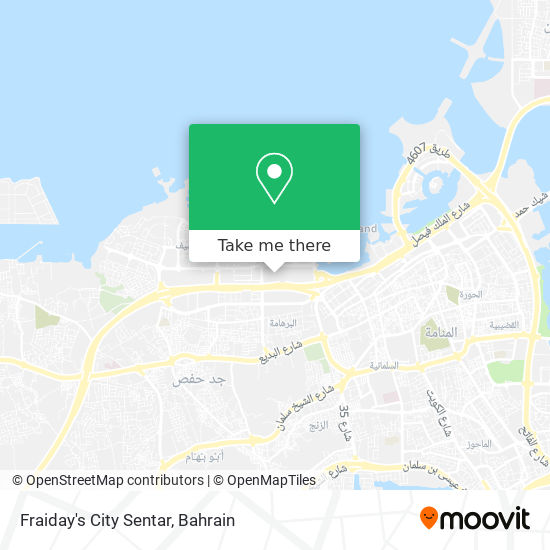 Fraiday's City Sentar map