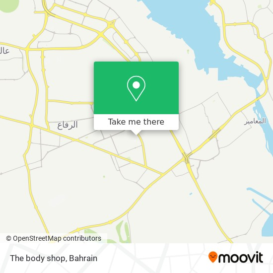 The body shop map