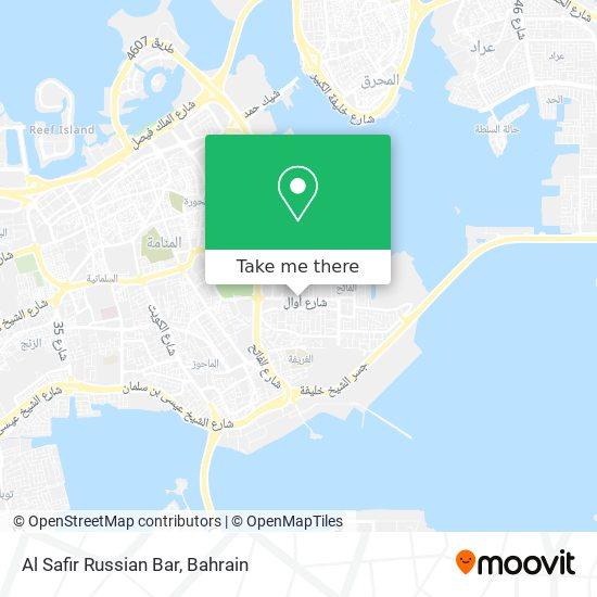 Al Safir Russian Bar map