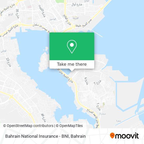 Bahrain National Insurance - BNI map