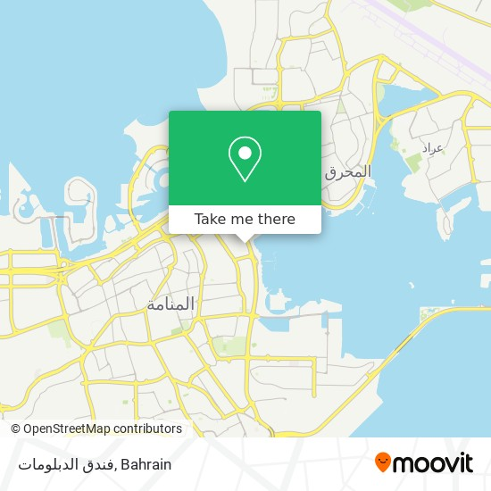 فندق الدبلومات map