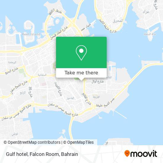 Gulf hotel, Falcon Room map