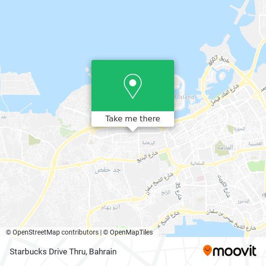 Starbucks Drive Thru map