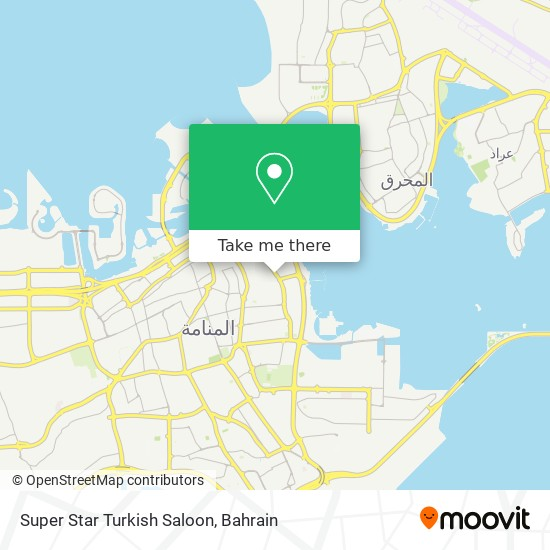 Super Star Turkish Saloon map