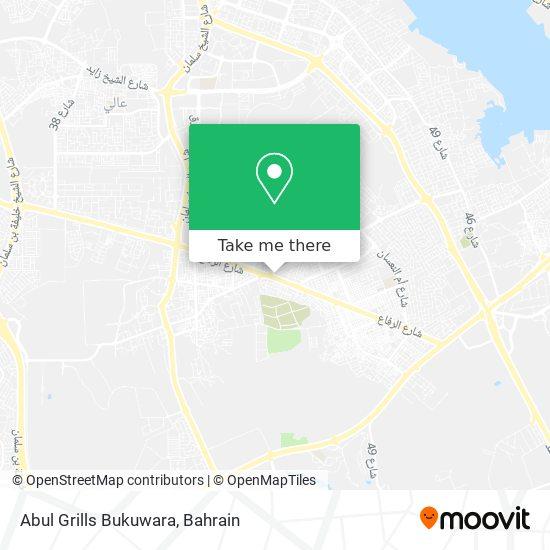 Abul Grills Bukuwara map