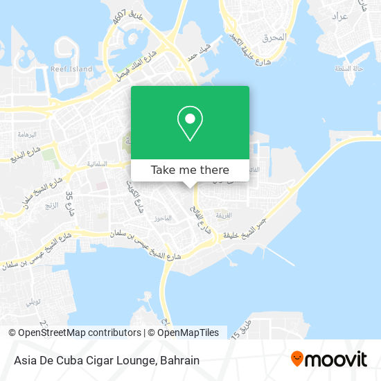 Asia De Cuba Cigar Lounge map