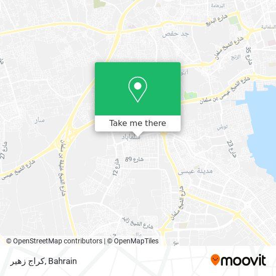 كراج زهير map