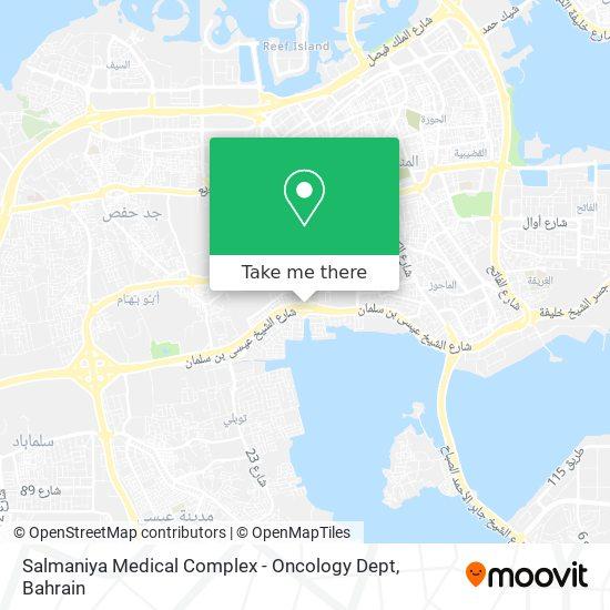 Salmaniya Medical Complex - Oncology Dept map