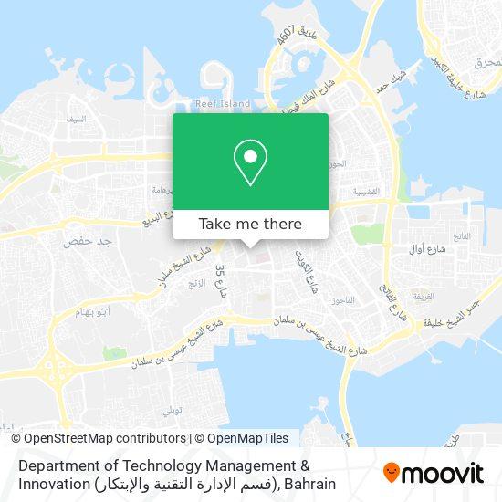 Department of Technology Management & Innovation (قسم الإدارة التقنية والإبتكار) map