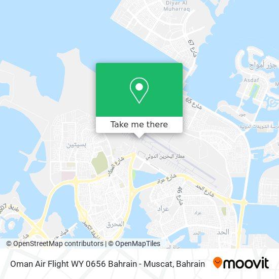 Oman Air Flight WY 0656 Bahrain - Muscat map
