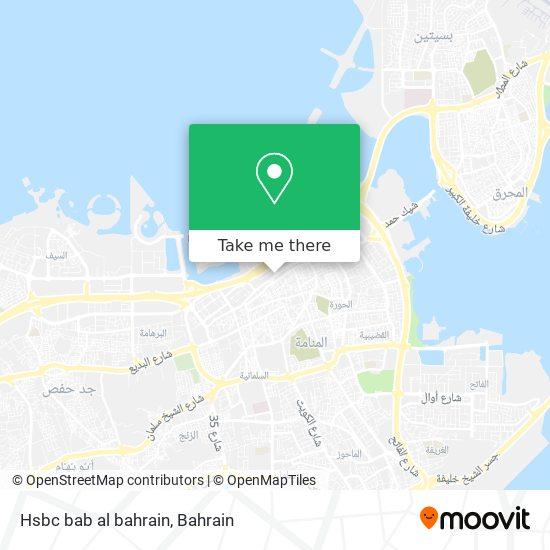 Hsbc bab al bahrain map