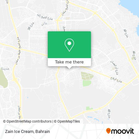 Zain Ice Cream map