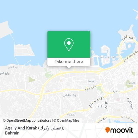 Agaily And Karak (عقيلي وكرك) map