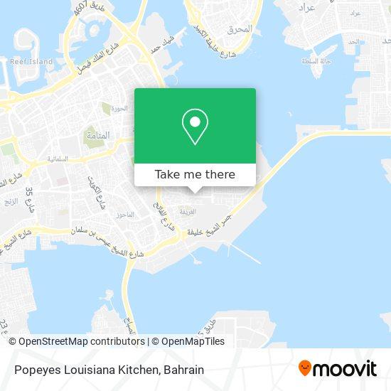 Popeyes Louisiana Kitchen map