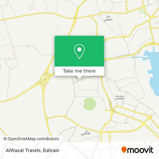 AlWasat Travels map