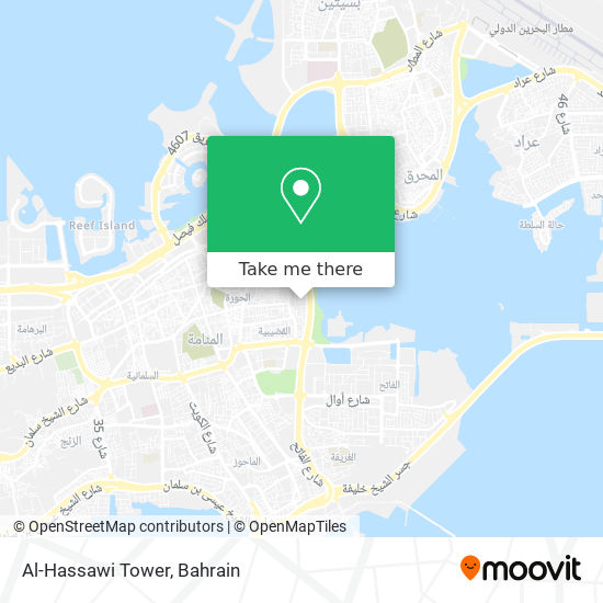 Al-Hassawi Tower map