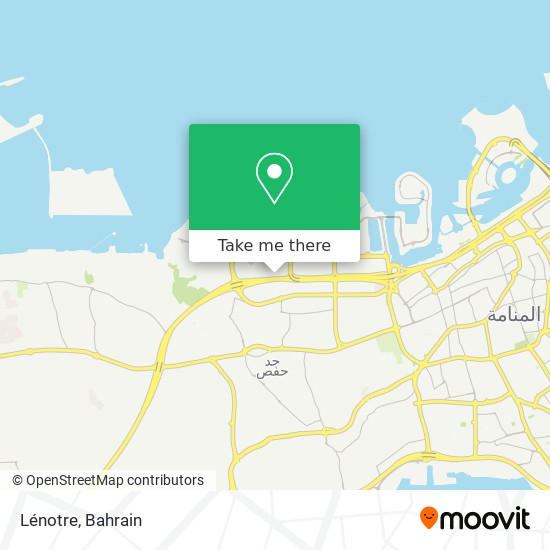 Lénotre map