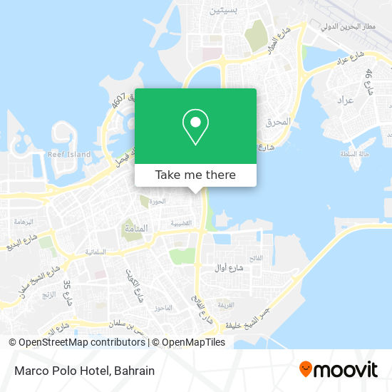 Marco Polo Hotel map