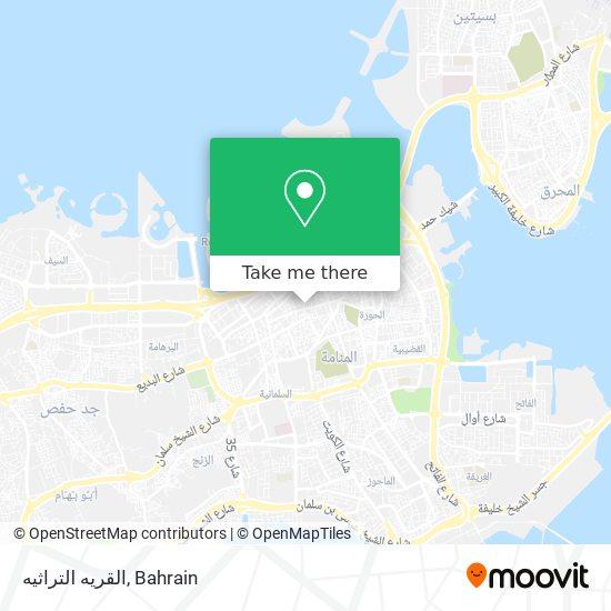 القريه التراثيه map