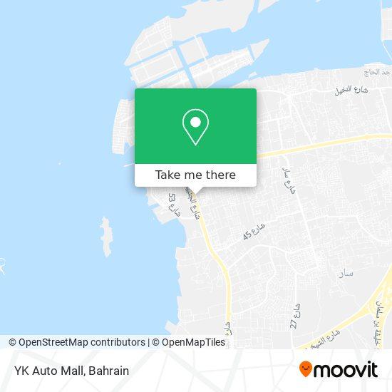 YK Auto Mall map