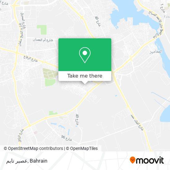 عصير تايم map