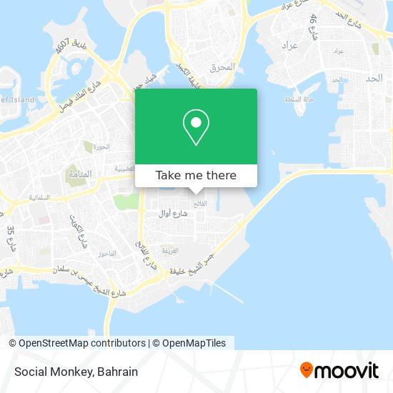 Social Monkey map