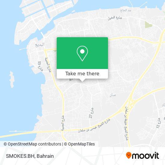 SMOKES.BH map