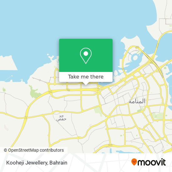 Kooheji Jewellery map