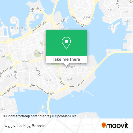 برادات الجزيرة map