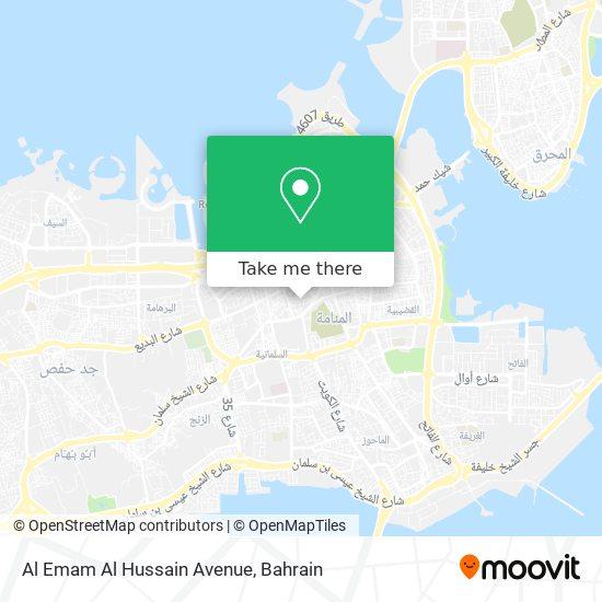 Al Emam Al Hussain Avenue map