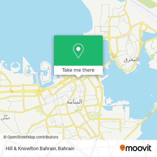 Hill & Knowlton Bahrain map