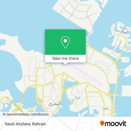 Saudi Airplane map