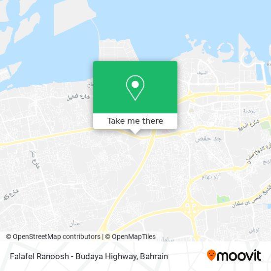 Falafel Ranoosh - Budaya Highway map