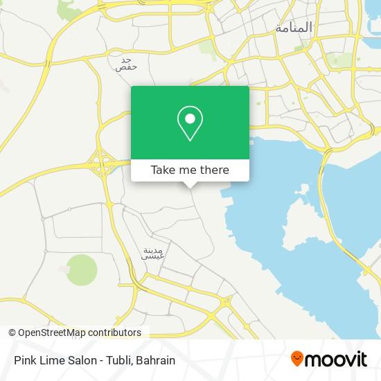 Pink Lime Salon - Tubli map