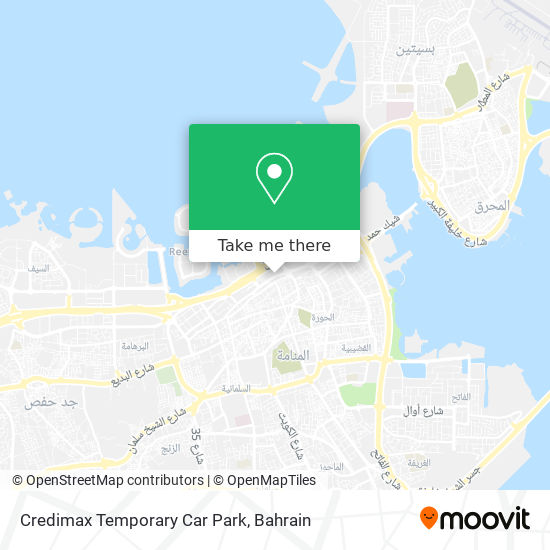 Credimax Temporary Car Park map