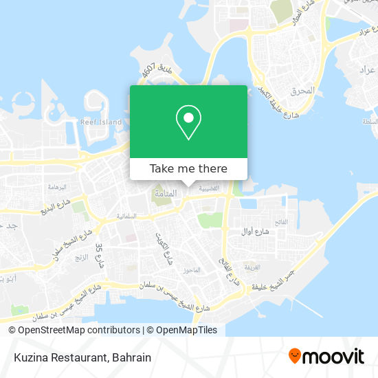 Kuzina Restaurant map