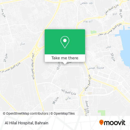 Al Hilal Hospital map