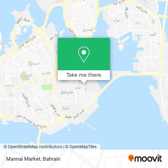 Mannai Market map
