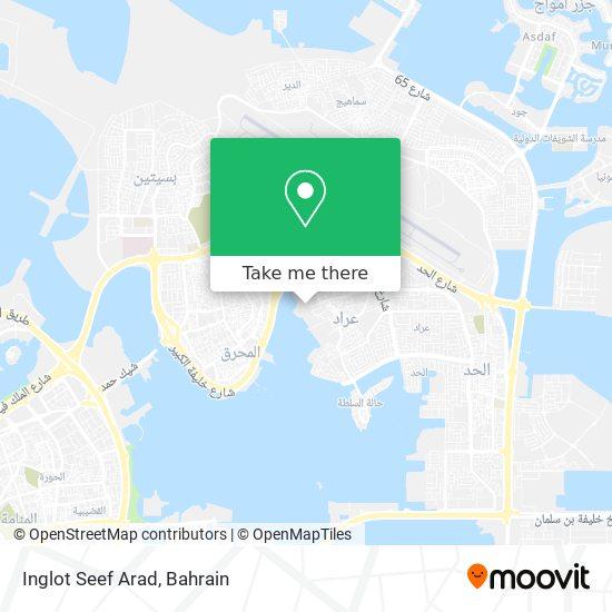 Inglot Seef Arad map