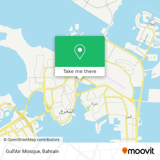 GulfAir Mosque map