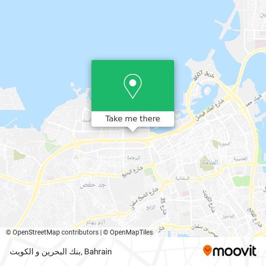 بنك البحرين و الكويت map