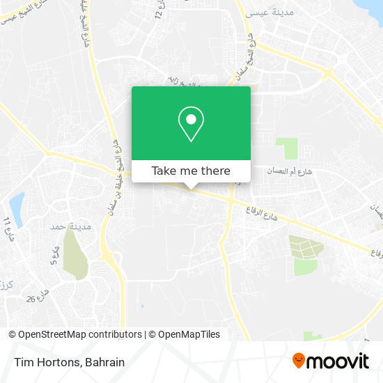 Tim Hortons map