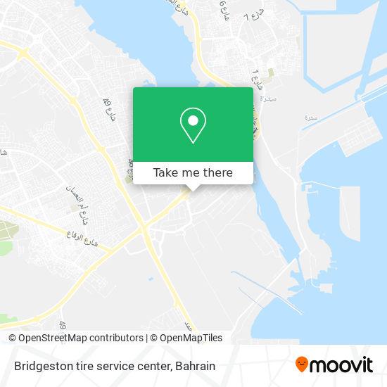 Bridgeston tire service center map